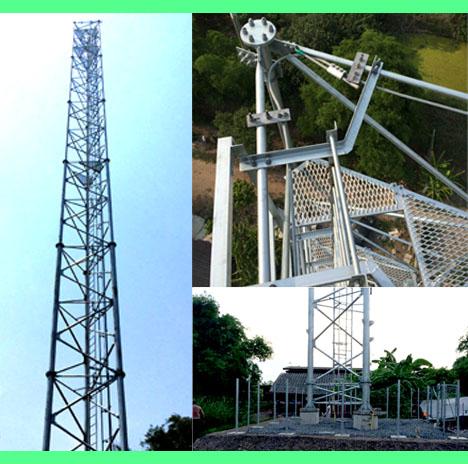 งานออกแบบก่อสร้างสถานีโครงข่ายโทรศัพท์